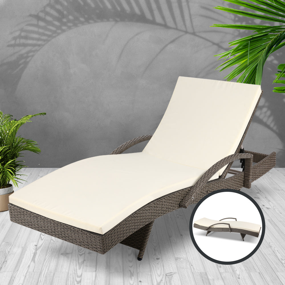 Outdoor Sun Lounge - Grey - The Home Accessories Company2