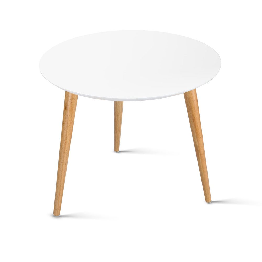Round Side Table - White - The Home Accessories Company
