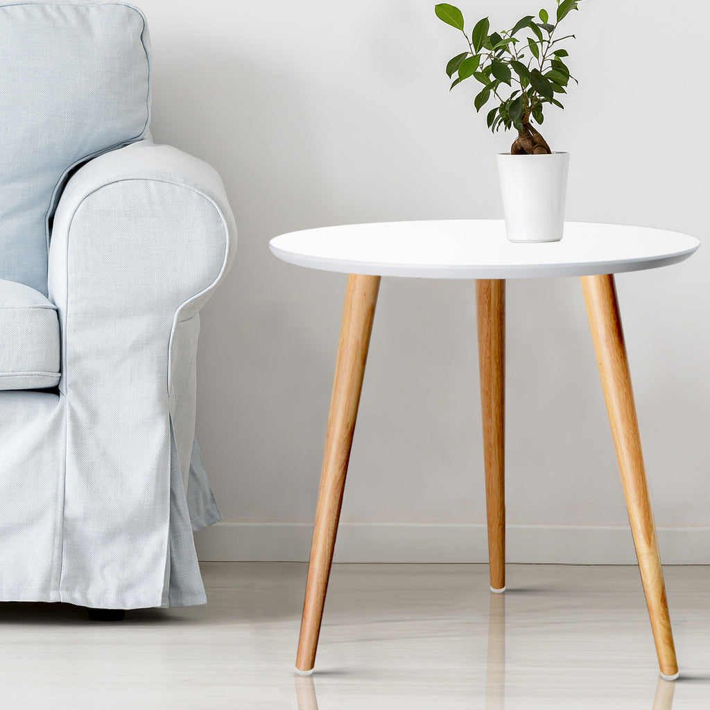 Round Side Table - White - The Home Accessories Company 3