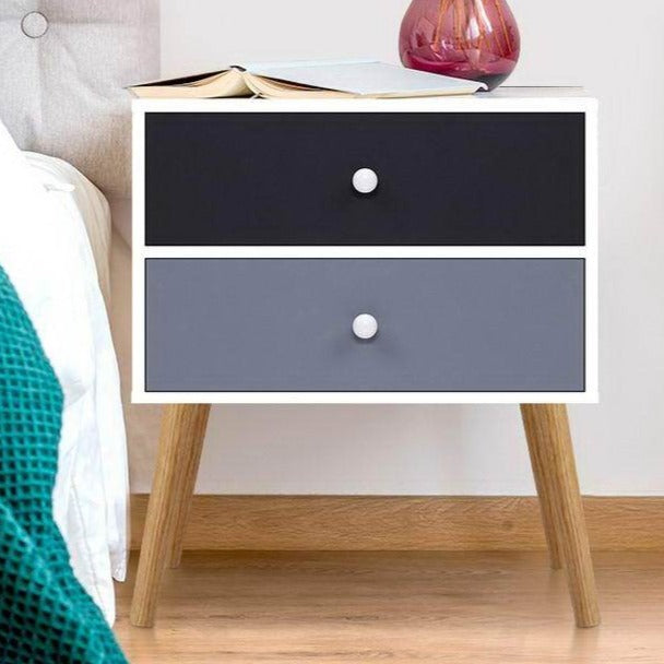 Block Colour Bedside Tables - The Home Accessories Company 1