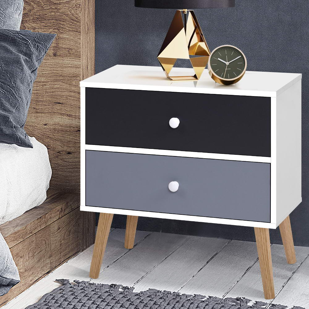 Block Colour Bedside Tables - The Home Accessories Company 3