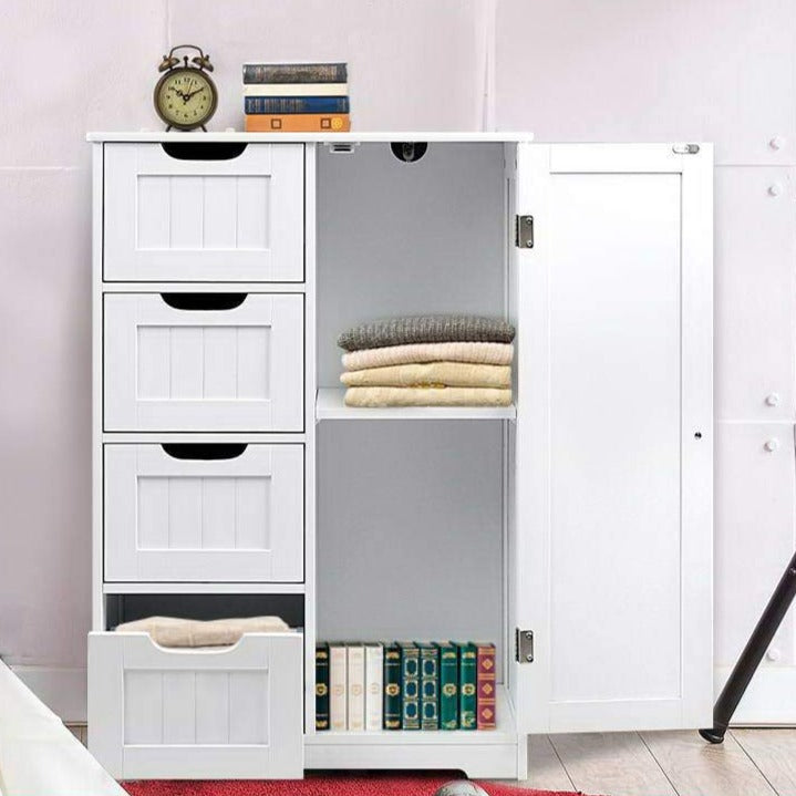Bathroom Storage Cabinet - White - The Home Accessories Company 1