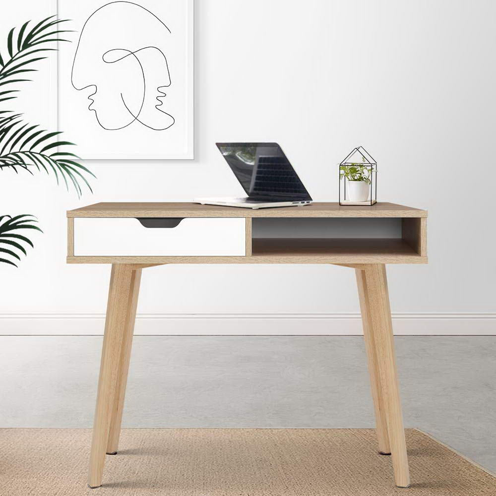 2 Drawer Wooden Computer Desk - The Home Accessories Company 2