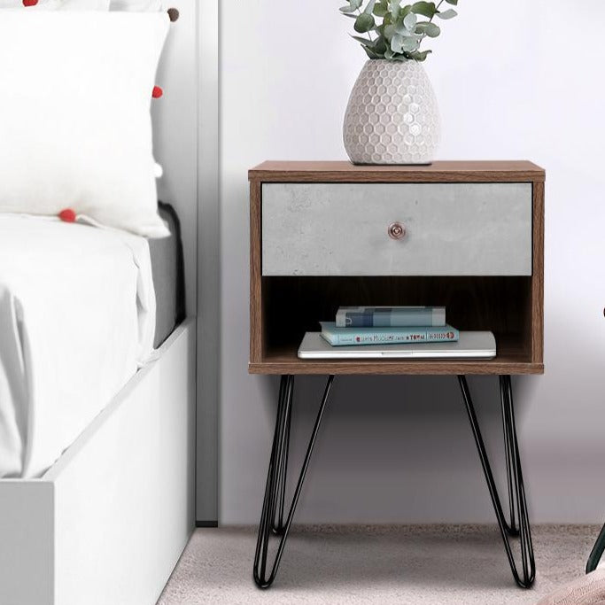 Industrial Style Bedside Table - The Home Accessories Company 2