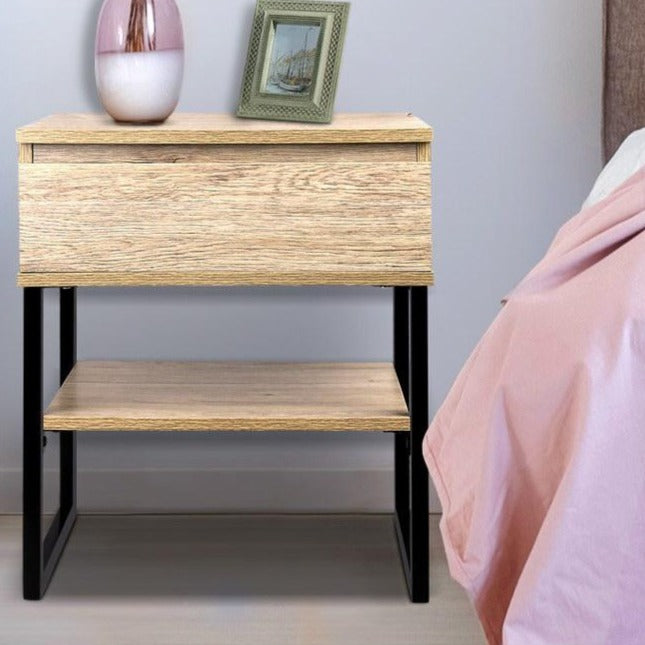 Natural Style Bedside Table - The Home Accessories Company 1