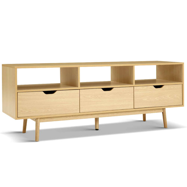 Wooden Scandinavian Entertainment Unit - Natural - The Home Accessories Company