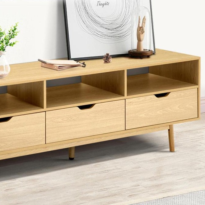 Wooden Scandinavian Entertainment Unit - Natural - The Home Accessories Company 2