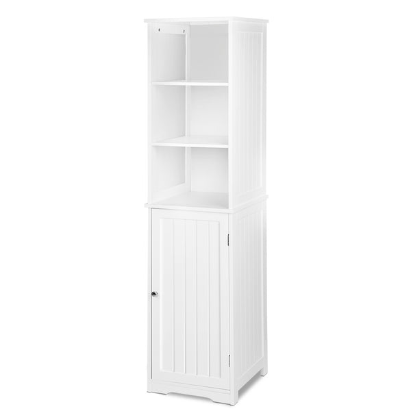 Tall Bathroom Storage Cabinet - White - The Home Accessories Company