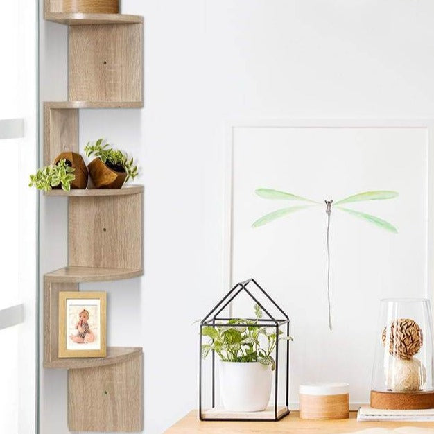 5 Tier Corner Wall Floating Shelf - The Home Accessories Company 1