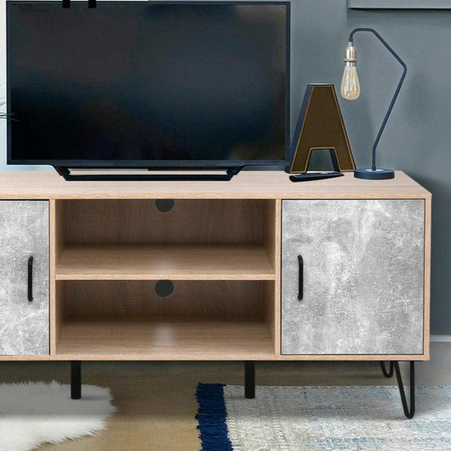 Industrial Style TV Cabinet Entertainment Unit - The Home Accessories Company 1