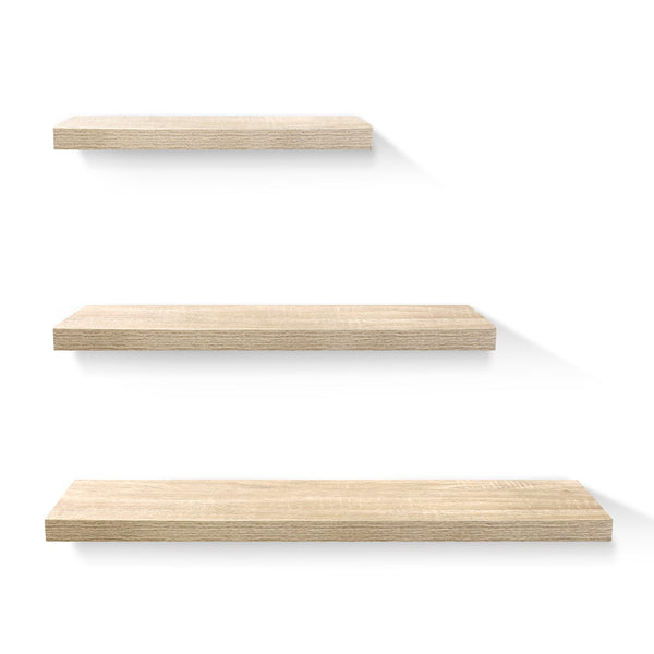 3 Piece Floating Shelves - Oak - The Home Accessories Company