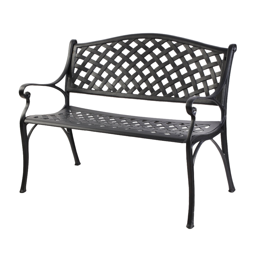 Garden Outdoor Bench - Black - The Home Accessories Company