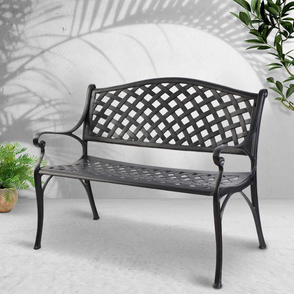 Garden Outdoor Bench - Black - The Home Accessories Company 2