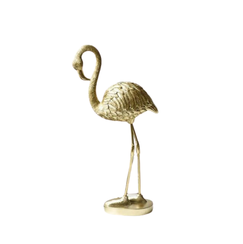 Golden Flamingo Sculpture- The Home Accessories Company 3