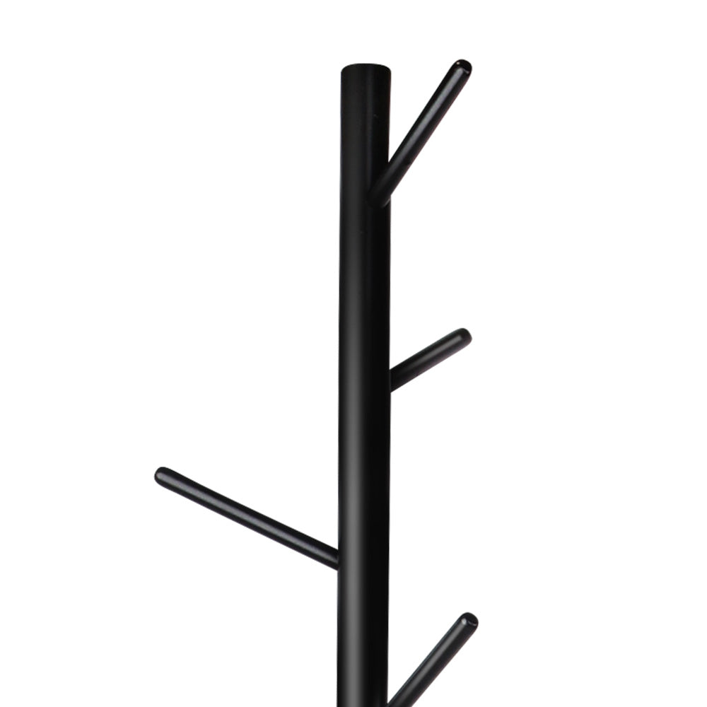 Wooden Coat Stand with 6 Hooks - Black - The Home Accessories Company 1