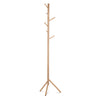 Wooden Clothes Stand with 6 Hooks - Natural - The Home Accessories Company