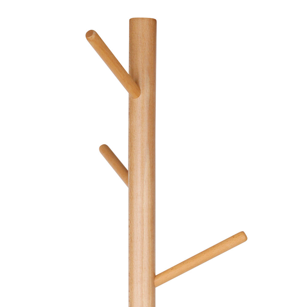 Wooden Clothes Stand with 6 Hooks - Natural - The Home Accessories Company 1