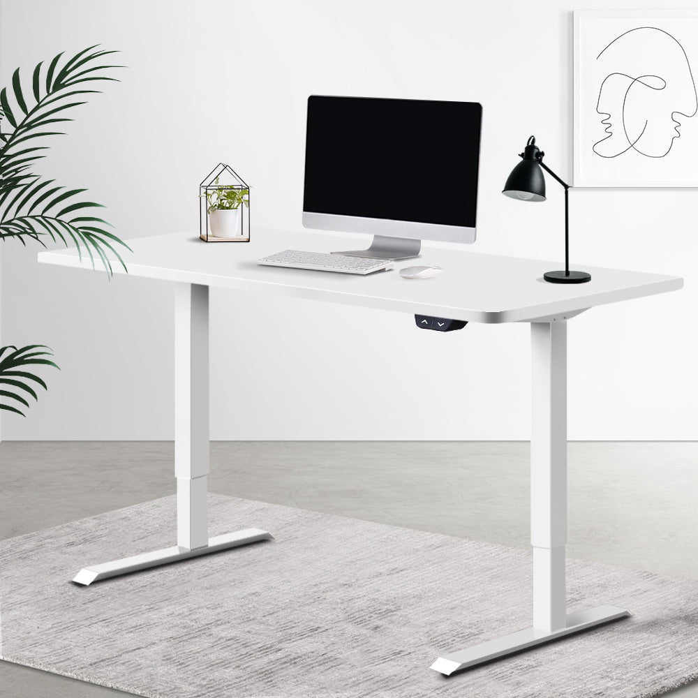 Motorised Height Adjustable Standing Desk - White - The Home Accessories Company 2