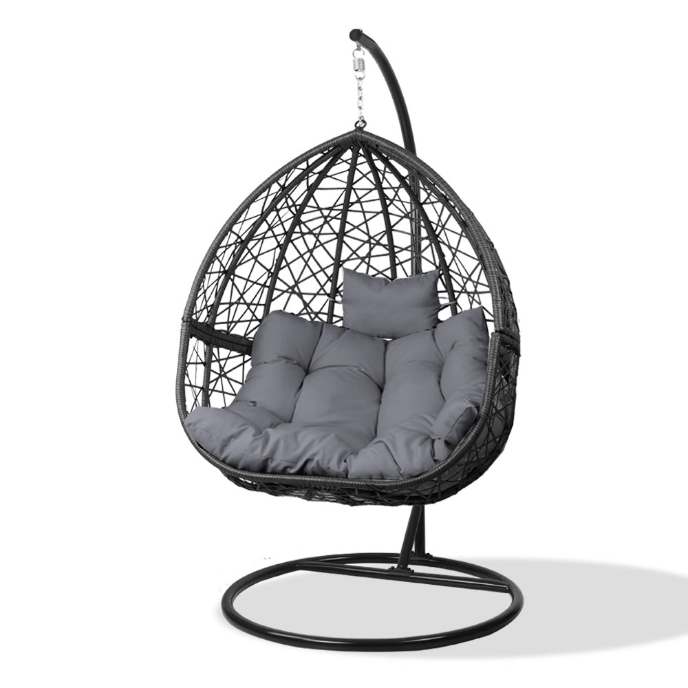 Outdoor Hanging Swing Chair - Black - The Home Accessories Company