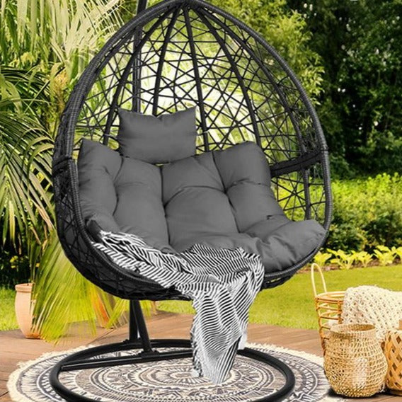 Outdoor Hanging Swing Chair - Black - The Home Accessories Company 1