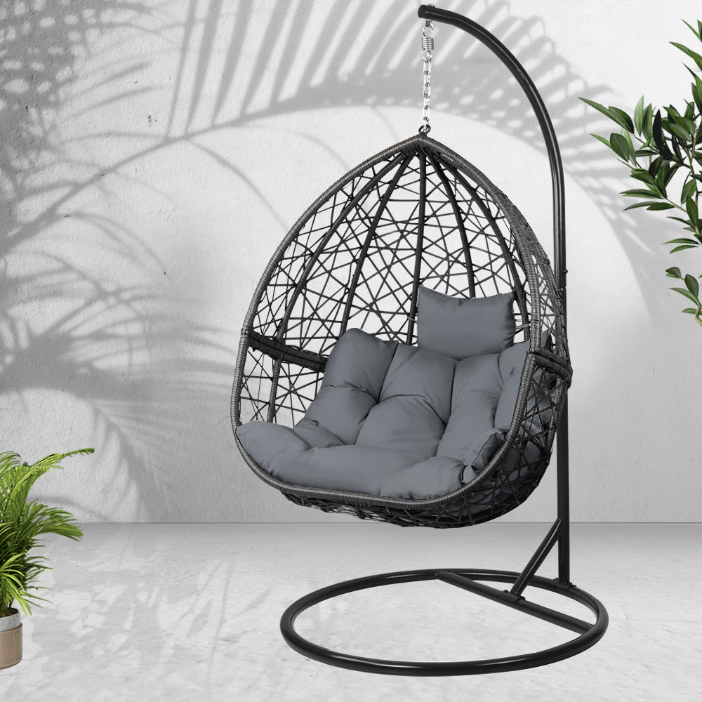 Outdoor Hanging Swing Chair - Black - The Home Accessories Company 2