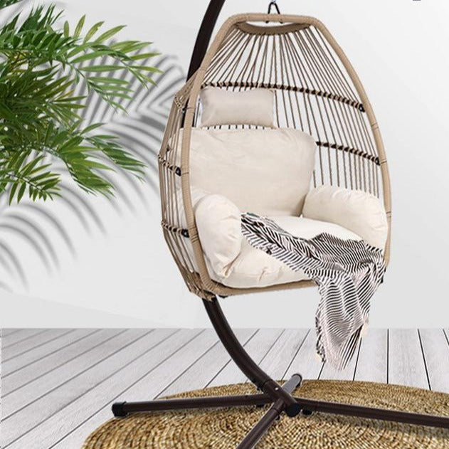 Outdoor Hanging Rattan Swing Chair - The Home Accessories Company 1