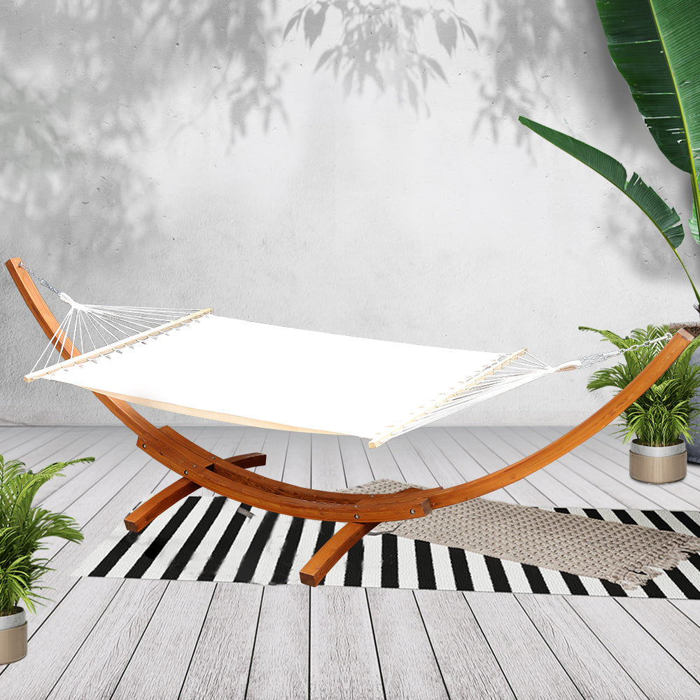 Double Hammock with Wooden Hammock Stand - The Home Accessories Company 3