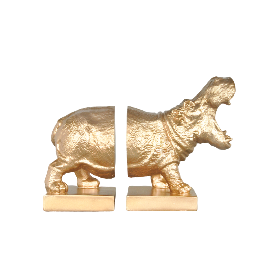 Roaring Gold Bookends -  Black - The Home Accessories Company