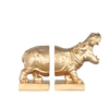 Roaring Hippo Bookends -  Gold - The Home Accessories Company
