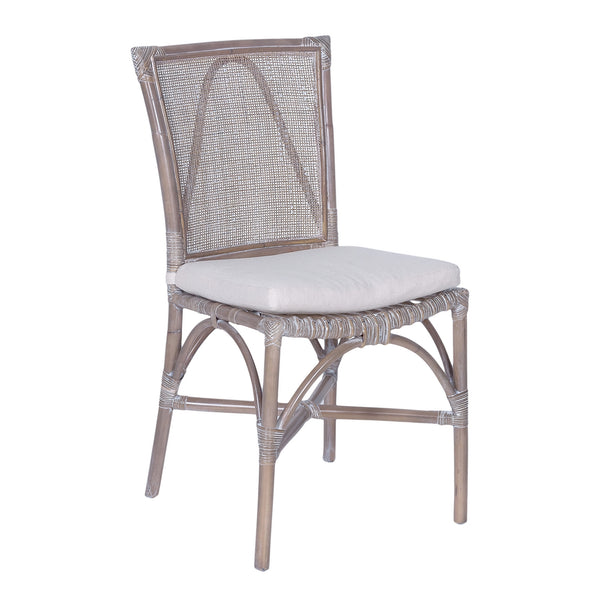 Rattan Grey Wash Dining Chair - The Home Accessories Company