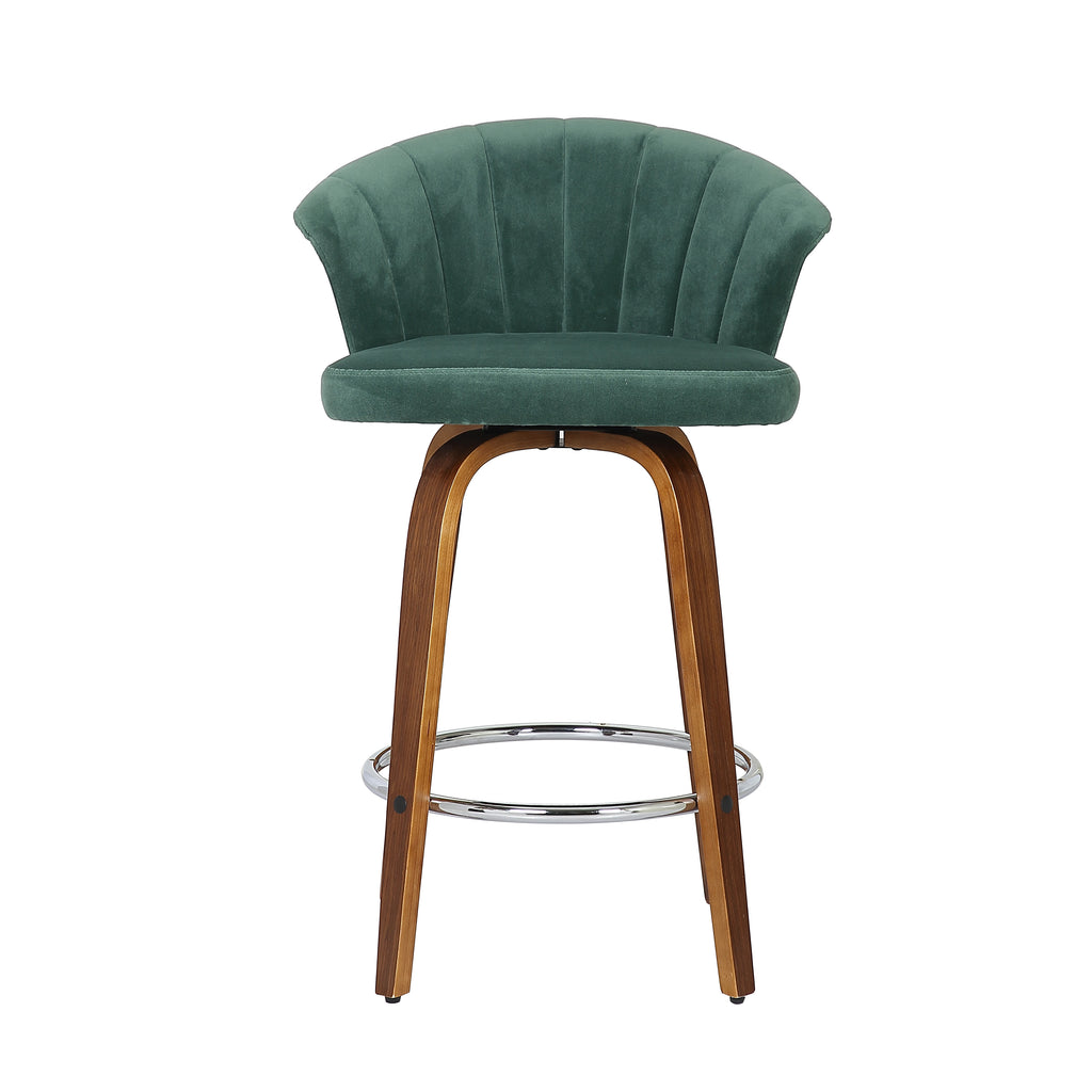 Velvet Fan Kitchen Bar Stool - The Home Accessories Company 2