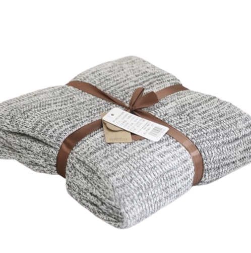 Knitted grey throw- The Home Accessories Company 6