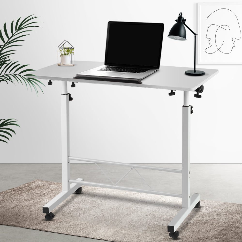 Portable Height Adjustable Laptop Desk -  White - The Home Accessories Company 3