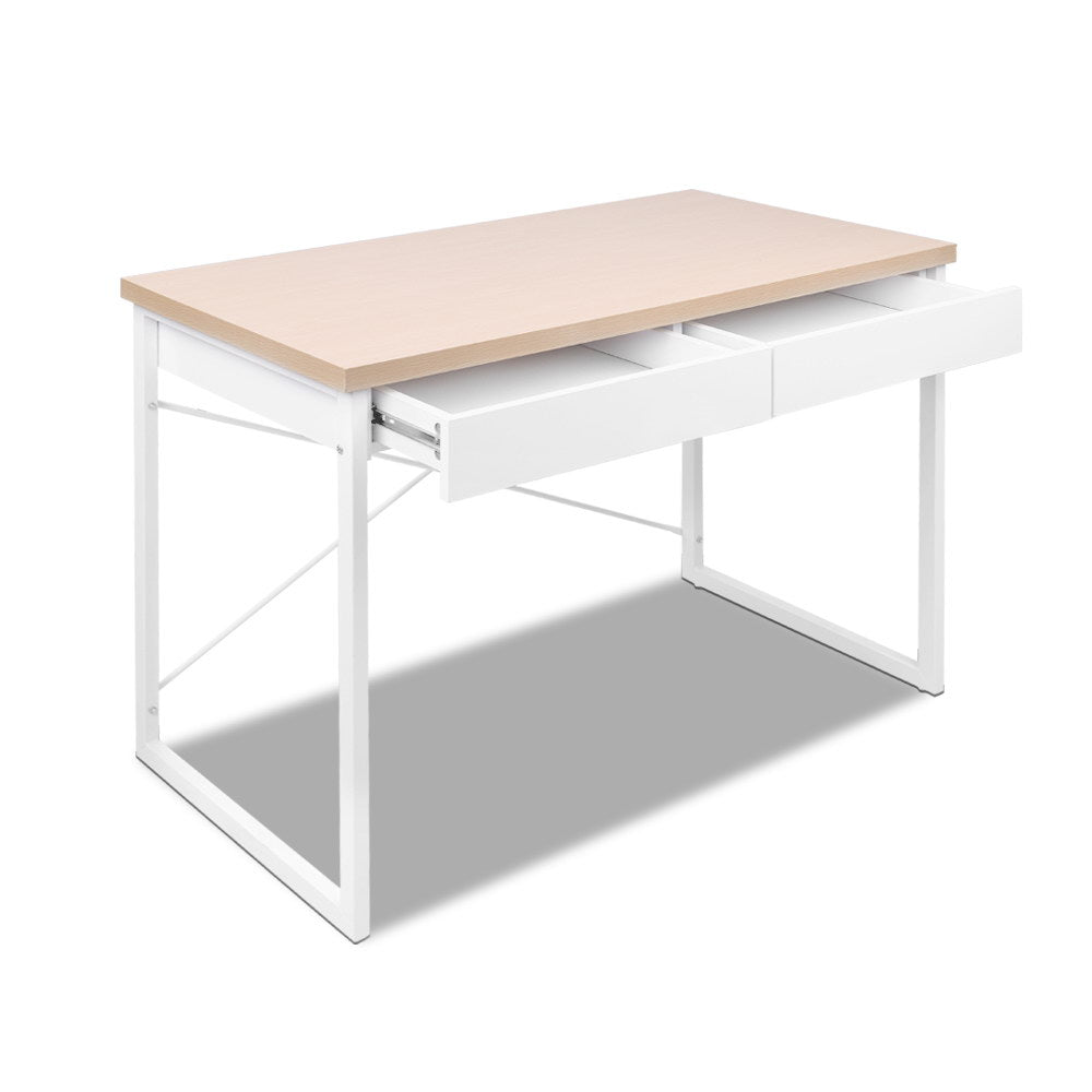 Wooden Top Metal Desk with Drawer - The Home Accessories Company 1