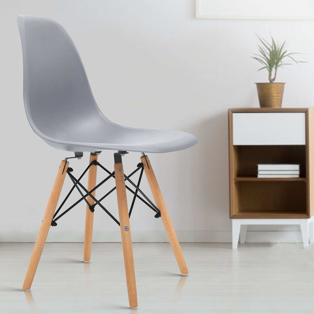4x Replica Eames Dining DSW Chairs - The Home Accessories Company 4