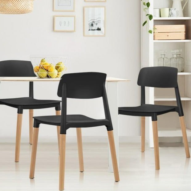 4x Belloch Replica Dining Chairs - Black 1