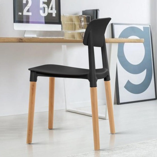 4x Belloch Replica Dining Chairs - Black 2