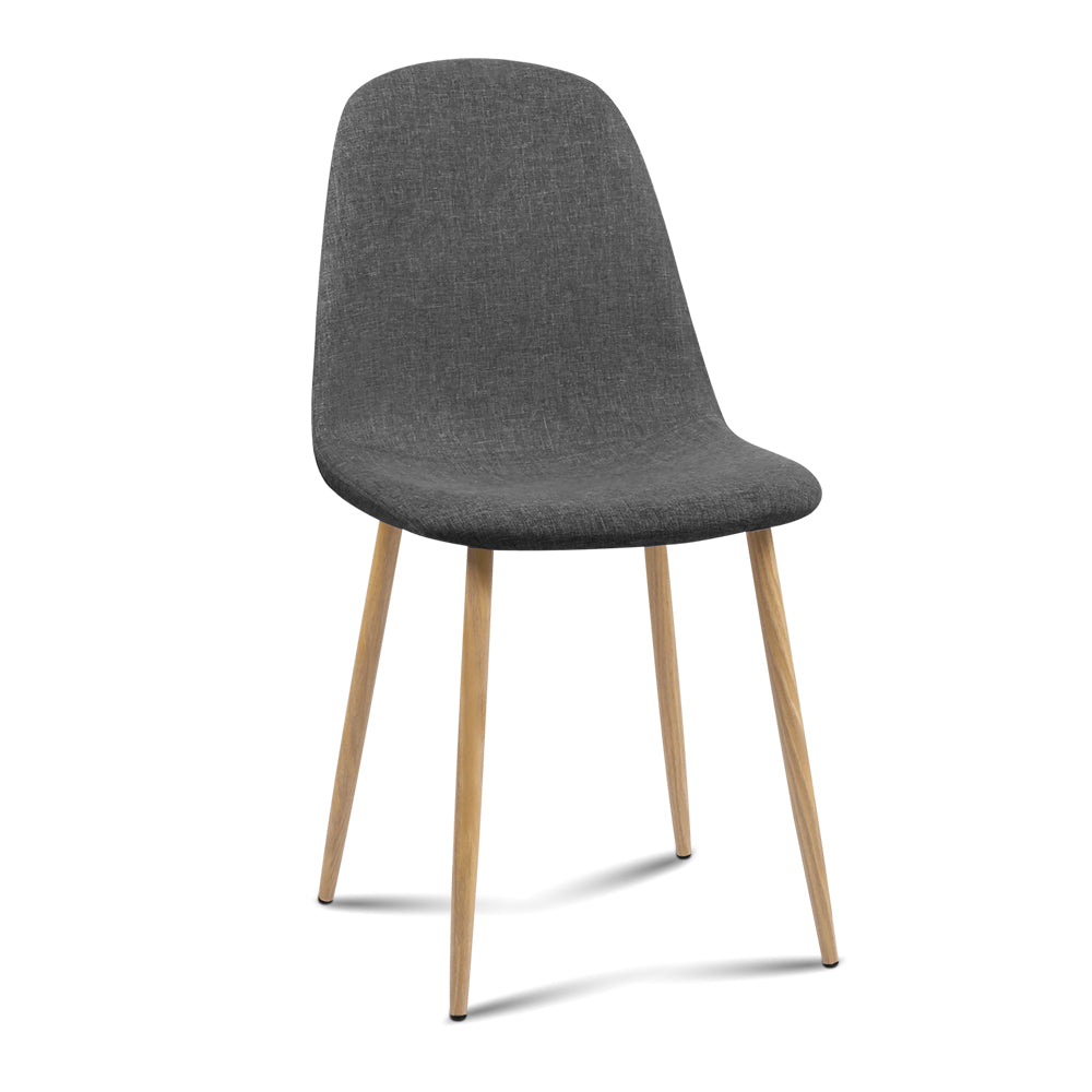 4 x Amy Fabric Dining Chairs - Dark Grey - The Home Accessories Company