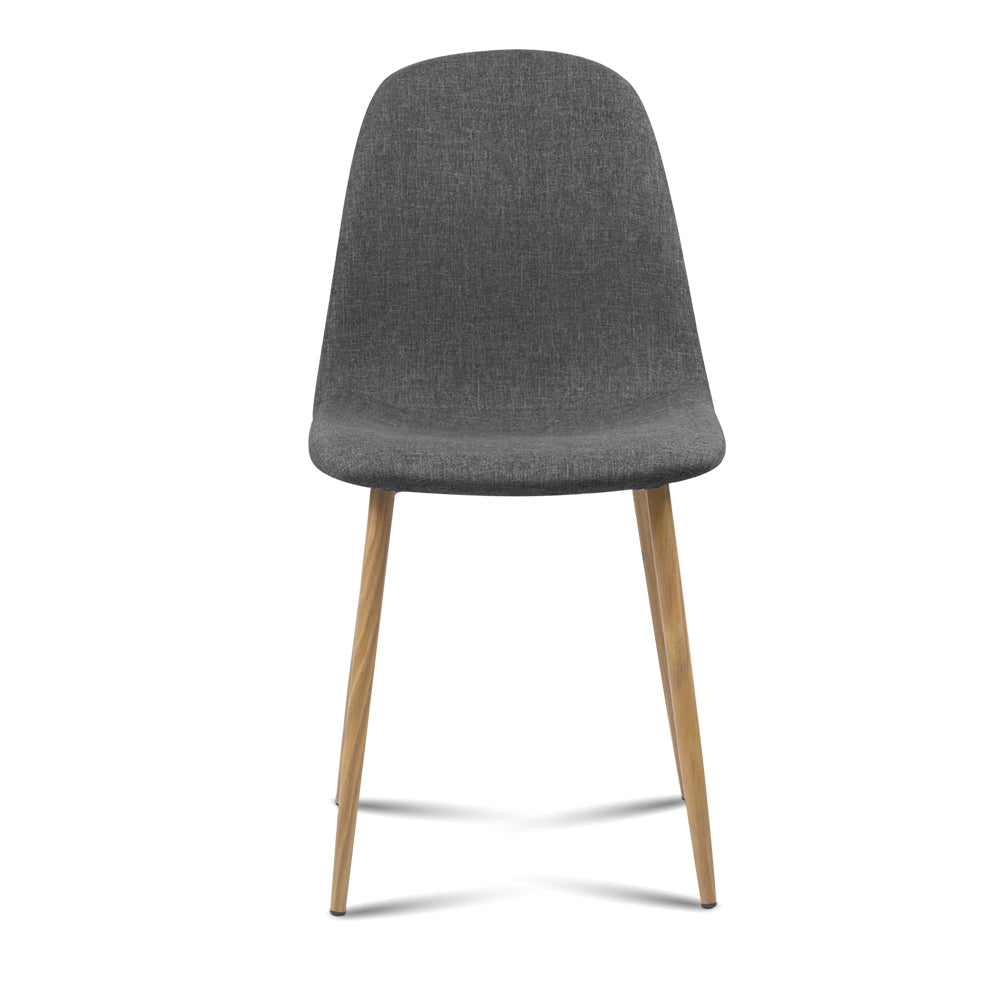 4 x Amy Fabric Dining Chairs - Dark Grey - The Home Accessories Company 1
