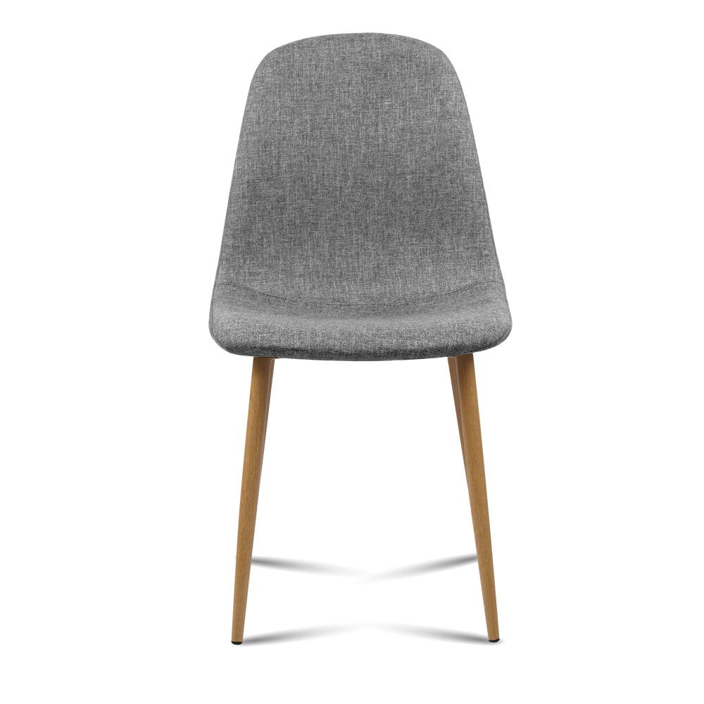 4 x Molly Fabric Dining Chairs - Light Grey - The Home Accessories Company 1