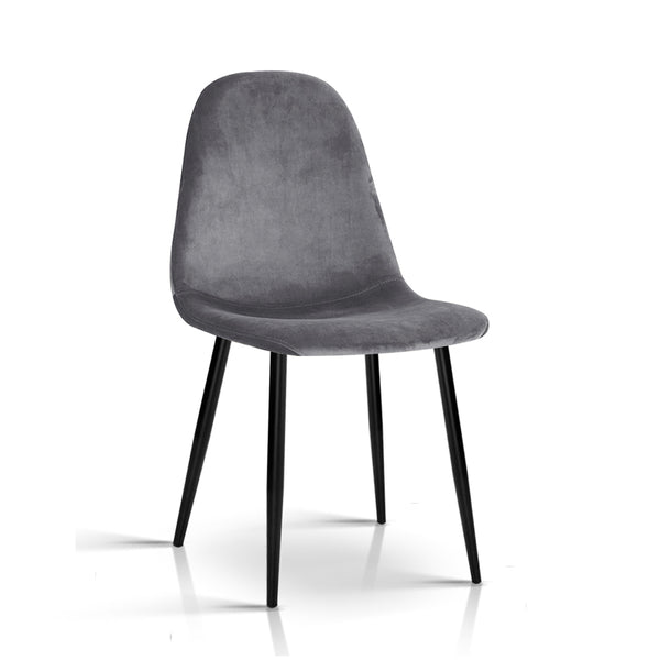4 x Mia Dining Chairs - Dark Grey - The Home Accessories Company