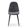 4 x Mia Dining Chairs - Dark Grey - The Home Accessories Company 2