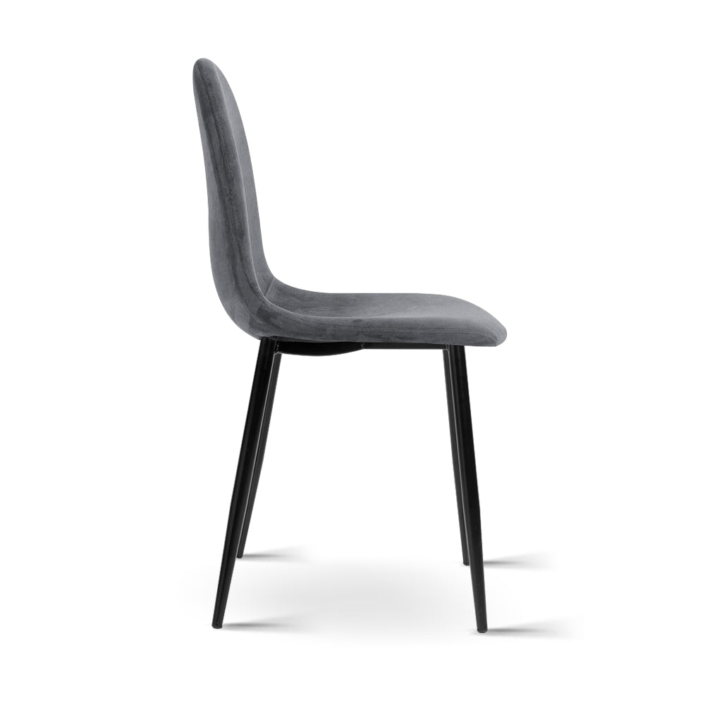 4 x Mia Dining Chairs - Dark Grey - The Home Accessories Company 3