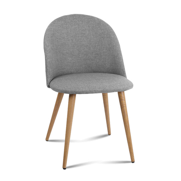 2 x Jenna Dining Chairs - Light Grey - The Home Accessories Company