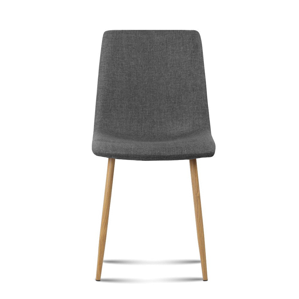 4 x Collins Dining Chairs - Dark Grey - The Home Accessories Company 2