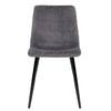4 x Velvet Dining Chairs - Charcoal - The Home Accessories Company 1