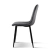 4 x Velvet Dining Chairs - Charcoal - The Home Accessories Company 2