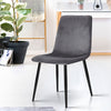 4 x Velvet Dining Chairs - Charcoal - The Home Accessories Company 4