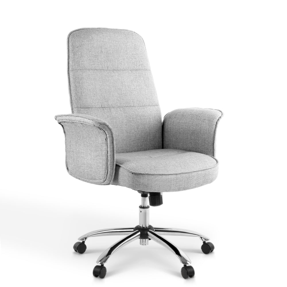 Fabric Office Desk Chair - Grey - The Home Accessories Company