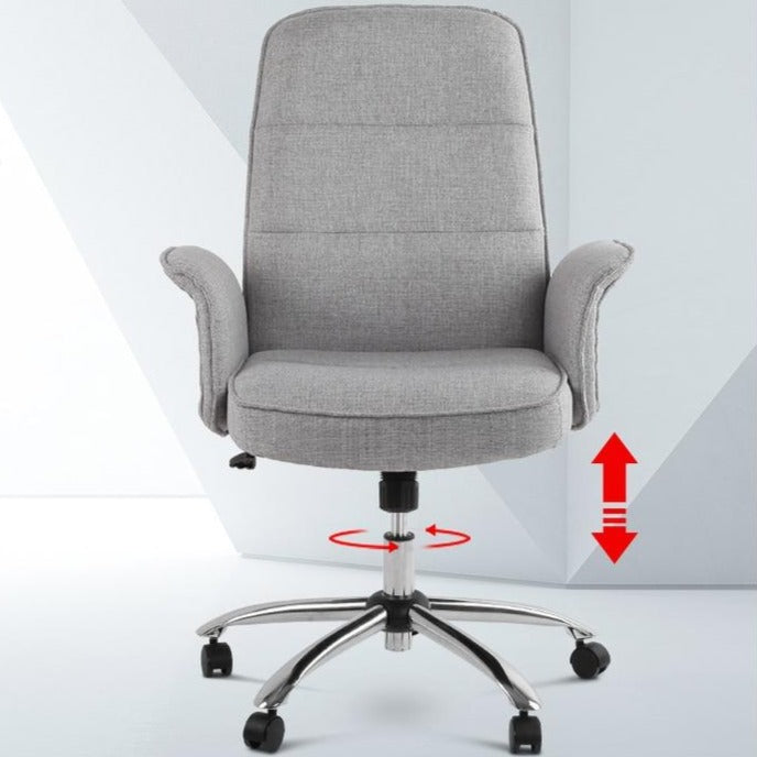 Fabric Office Desk Chair - Grey - The Home Accessories Company 2